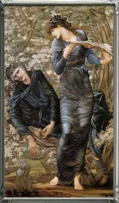 The Beguiling of Merlin (Merlin and Vivien) 1870-1874 by Edward Burne Jones